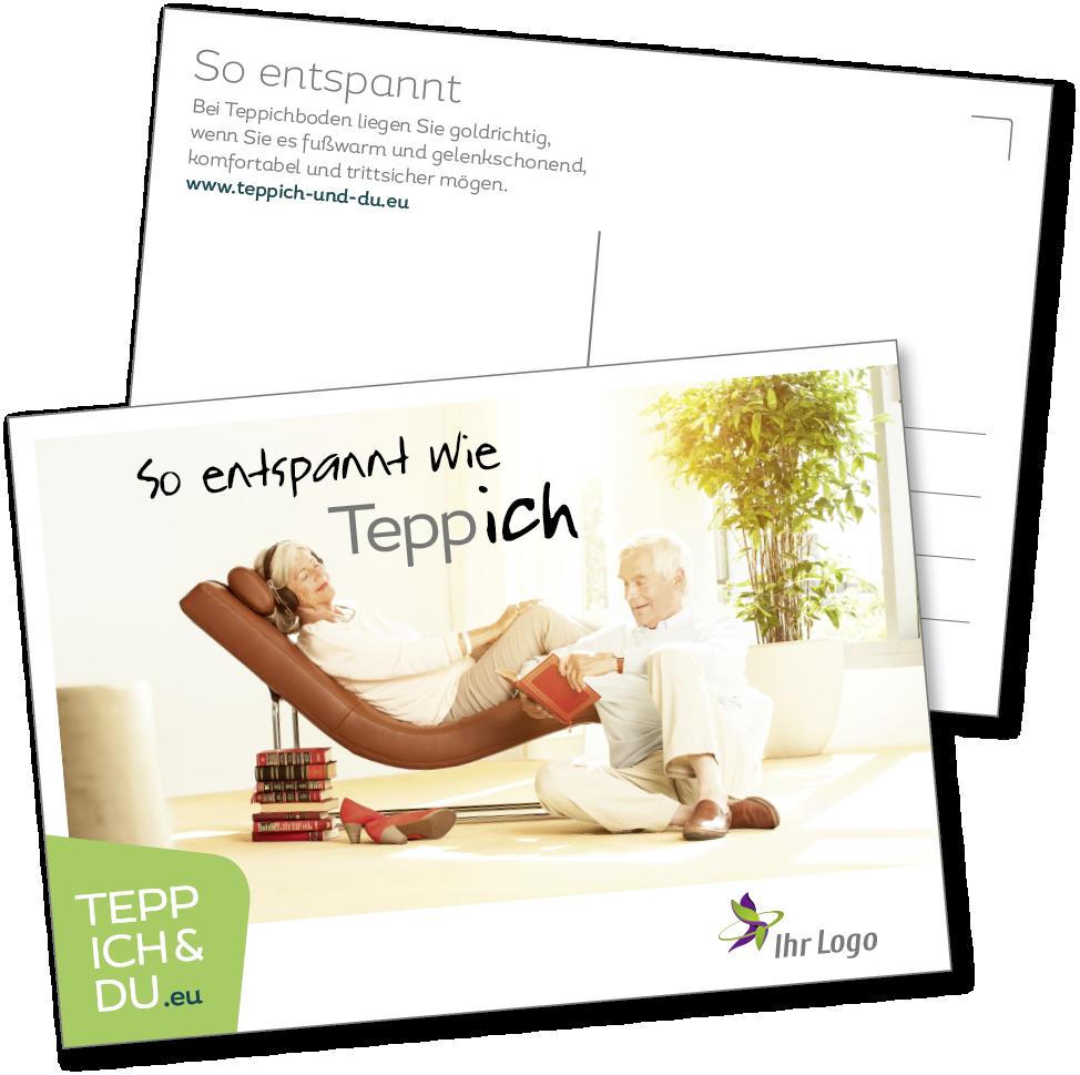 Postkarten So entspannt wie Teppich  TEPPICH & DU